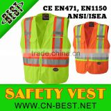 100% polyester Hi-viz safety tear-away mesh back vest