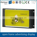 "Flintstone 10"" frameless advertisement screen, embedded pos lcd video player, 10 inch open frame lcd monitor"