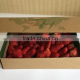 Environmentally nice accept custom order kraft paper food box for strawberry gift packaging