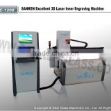 SKLE-1208 High Quality Laser Inner Glass Engraving Machine