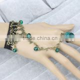 Crystal hand chain bracelet rose flower hand ring harness bracelets for women