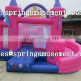 cheap and hot sale beautiful princess classical inflatable bouncer and slide combo castle