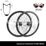 700C 38mm carbon cyclocross wheelsets No brake surface, road disc wheels lightweight 20.5mm / 23mm / 25mm width