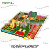 Large indoor multi-functional trampoline park with soft play ball play trampoline equipment