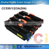 Premium Remanufactured color toner cartridge for HP CC530A CC531A CC532A CC533A with chip
