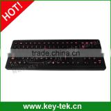 Rear panel mounting black industrial keyboard with numeric keypad function keys