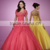 new design beauty ball gown lace up back quinceanera dresses wedding dress MLQ-013