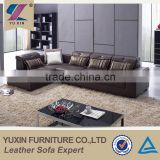 Living room leather sofa set designs/modern l-shape chesterfield leather sofa set