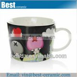 creative fancy decor ceramic coffee cups wholesale