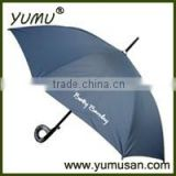 Black Wooden Golf Umbrella with Logo for Promotion