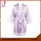 Fung 2906 Women Satin Bridal Party Robes Lace
