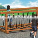 KAIQI classic Swing Path Series KQ50150B exciting bridge swing wooden playground equipment