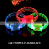 Customized design colorful luminous bracelets party flashing led wristbands                                                                         Quality Choice