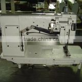 Double needle heavy duty industrial leather sewing machine for sale