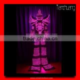 Programmable LED Tron Dance Costume, Adults Robot LED Costumes