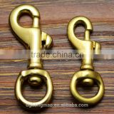 Good quality Antique Solid Brass swivel snap hook Trigger Snap Hook for bags keychain                                                                         Quality Choice