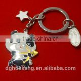 2016 Factory price panda mascot keychain special design cute China style zinc alloy keyring
