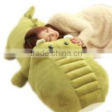 creative lovely cartoon kids plush toy gift green purple and pink crocodile doll sleeping pillow