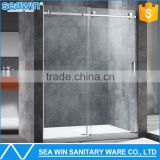 304 Stainless Steel Hardware Finishes Bathtub Shower Screen 8mm Sliding Glass Shower Door Manufacturer                                                                         Quality Choice