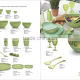 Biodegradable bamboo tableware collection-rice/soup bowl