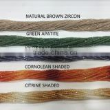 Diamond cut faceted top quality beads Natural Brown Zircon, Green Apatite, Iolite Shaded, Cornolean Shaded, Citrine Shaded