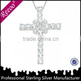 925 sterling silver handmade cross pendant,cross necklace costume jewelry