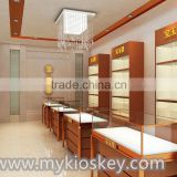 Cartier style jewelry kiosk | jewelry display showcase in mall for sale