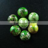 12mm round grass green imperial jasper cabochon beads,gemstone pendant cabochon stone beads set for earrings,rings, 4110023
