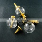 20mm glass ball in screwed seal raw brass vial pendant DIY glass dome bottle charm supplies 1800110