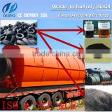 waste tire pyrolysis to oil machine and waste plastic to fuel oil and carbon black