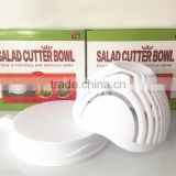 HOT PRODUCT plastic secure salad cutter bowl for vegetable