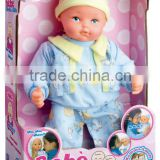 bo play fun safe material ABS functional male baby dolls with EN71