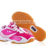 fashion brand name girl tennis shoe sneaker high quality from jinjiang factory, women badminton shoes sport training beautiful