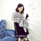 Women Fluffy Furry Shawl Scarf Wrap Stole Cape Shrug Faux Fur Luxury Sweet Bride Artificial fur Winter Warm