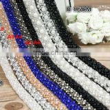 Handmade diy clothing collar accessories 1-3cm black white pearl decorative beaded lace trim