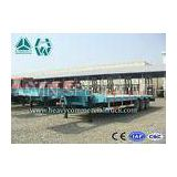 8000mm Hydraulic Low Loader Trailer Steel Coil With Mechanical Suspension with manual ladder