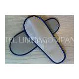White Non-Woven Disposable Hotel Open Toe Slippers , Spa Slippers Wholesale