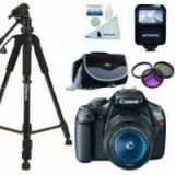 Canon EOS Rebel T3 / 1100D 12.2 MP Digital SLR Camera - Black (Kit w/ 18-55mm IS II Lens)