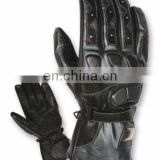 Black Motorbike Leather Gloves