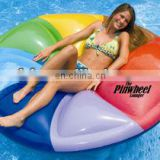 inflatable relax pinwheel island lounger