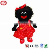 Happy toy plush stuffed golliwog with red PU shoes