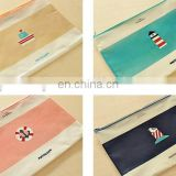 fashion China factory plastic ziplock pvc file bag