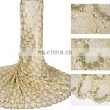 2014 nigerian big organza sequin lace