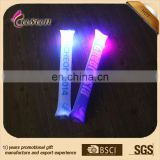 goods from China novelty 2015 60*10 cm PE led light-up balloon cheering stick noise maker