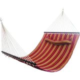 Single Thickening Canvas Hammock with Sticks