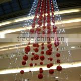 LED Light String with Christmas Ball for atrium decoration light decoration for shopping mall