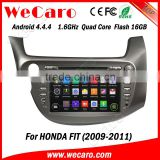 "Wecaro android 4.4.4 car dvd player touch screen 8"" for honda fit dvd BT gps 3g TV 2009 2010 2011"