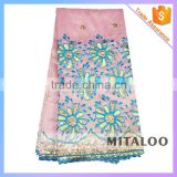 Mitaloo New Lace Designs Indian Embroidery Lace Fabric With Sequin For Making Dresses MGP0036