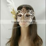 Christmas party mask for party decoration feather flower Mardi Gras party mask