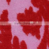 long pile fleece fabric printed with red square sofa upholstery fabric